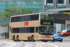 KJ2052 @ 681 由 529~HB9187 於 金鐘道西行皇后大道中面向長江中心梯(立法會中銀分行梯)拍攝