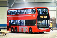VB4398 @ 46X 由 黃泥頭站長 於 大圍鐵路站巴士總站面向46S總站梯(46S總站梯)拍攝